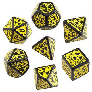ヌカ 3D(Nuke 3D)【ブラック&イエローダイス 7個セット】Black&yellow Dice Set Q-WORKSHOP