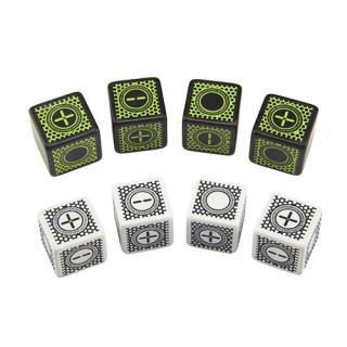 サイバーファッジ(Cyber Fudge)【ホワイト&ブラック ブラック&グリーン 6面セット】 Q-WORKSHOP