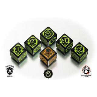 ウォーマシン(Warmachine)【6面ダイス×6個セット】Cryx Faction Dice Q-WORKSHOP
