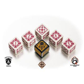 ウォーマシン(Warmachine)【6面ダイス×6個セット】The Protectorate of Menoth Faction Q-WORKSHOP