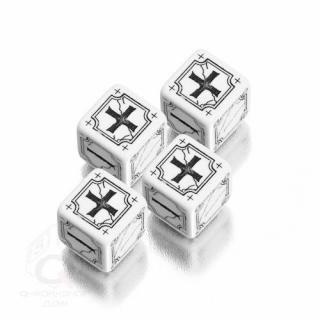 エンシャントファッジ(Ancient Fudge)【ホワイト&ブラック 6面ダイス×4個セット】 Q-WORKSHOP