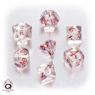 クラシック(Classic dice)【クリア&ブルー・レッドダイス】Transparent&Blue・Bed Q-WORKSHOP