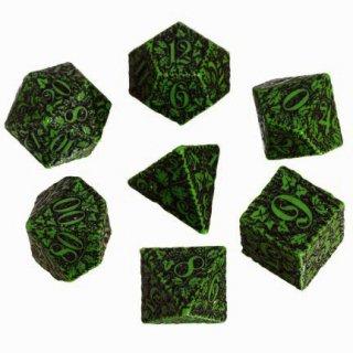 フォレスト 3D(Forest)【グリーン&ブラックダイス 7個セット】Green&Black Dice Set Q-WORKSHOP