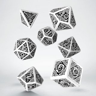 ケルト(Celtic)【ホワイト&ブラックダイス 7個セット】White&Black Dice Set Q-WORKSHOP