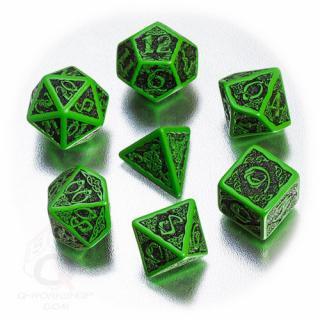 ケルト(Celtic)【グリーン&ブラックダイス 7個セット】Green&Black Dice Set Q-WORKSHOP