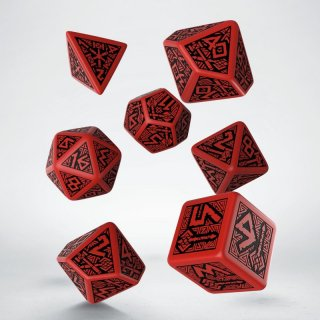 ドワーフ(Dwarven)【レッド&ブラックダイス 7個セット】Red&Black Dice Set Q-WORKSHOP