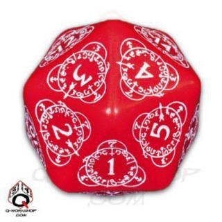 D20ダイス レベルカウンター(Level Counter)【レッド&ホワイト】Red&White Dice Q-WORKSHOP