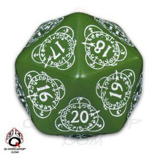 D20ダイス レベルカウンター(Level Counter)【グリーン&ホワイト】Green&White Dice Q-WORKSHOP