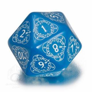 D20ダイス レベルカウンター(Level Counter)【ブルー&ホワイト】Blue&White Dice Q-WORKSHOP