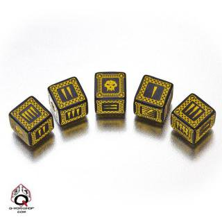 バトル オーセッシュ(Battle Orcish)【ブラック&イエロー 6面ダイス×5個セット】Dice Set Q-WORKSHOP
