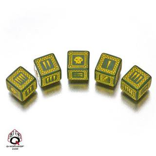 バトル オーセッシュ(Battle Orcish)【グリーン&イエロー 6面ダイス×5個セット】Dice Set Q-WORKSHOP