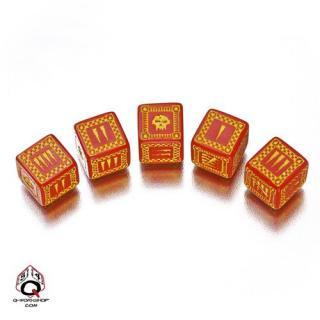 バトル オーセッシュ(Battle Orcish)【レッド&イエロー 6面ダイス×5個セット】Dice Set Q-WORKSHOP