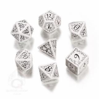 エルフ(Elven)【ホワイト&ブラックダイス 7個セット】White&Black Dice Set Q-WORKSHOP