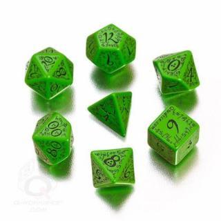 エルフ(Elven)【グリーン&ブラックダイス  7個セット】Green&Black Dice Set Q-WORKSHOP