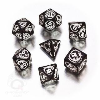 ドラゴン(Dragons)【ホワイト&ブラックダイス 7個セット】White&Black Dice Set Q-WORKSHOP