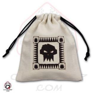 オーセッシュ(Orcish)【ダイスバッグ ホワイト】Dice Bag Q-WORKSHOP