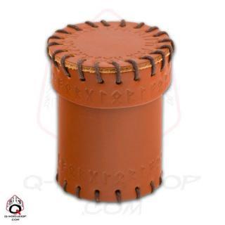 ルーン(Runic)【レザーダイスカップ ブラウン】Leather Dice Cup Brown Q-WORKSHOP