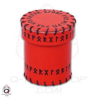 ルーン(Runic)【レザーダイスカップ レッド】Leather Dice Cup Red Q-WORKSHOP