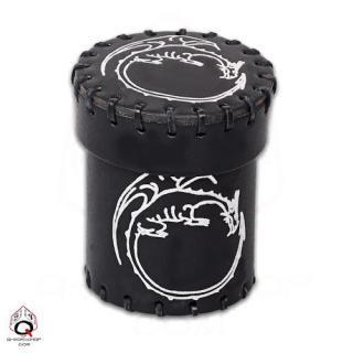 ドラゴン(Dragon)【レザーダイスカップ ブラック】Leather Dice Cup Black Q-WORKSHOP