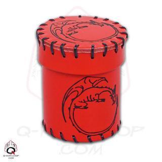 ドラゴン(Dragon)【レザーダイスカップ レッド】Leather Dice Cup Red Q-WORKSHOP