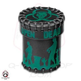 ゾンビ(Zombie)【レザーダイスカップ ブラック&グリーン】Leather Dice Cup Q-WORKSHOP