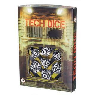 テック(Tech)【ホワイト&ブラックダイス 7個セット】White&Black Dice Set Q-WORKSHOP