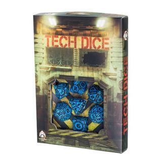 テック(Tech)【ブルー&ブラックダイス 7個セット】Blue&Black Dice Set Q-WORKSHOP