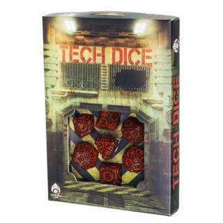 テック(Tech)【レッド&ブラックダイス 7個セット】Red&Black Dice Set Q-WORKSHOP