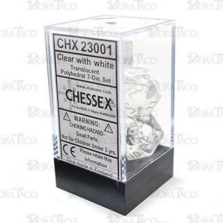 チェセックス(CHESSEX) クリア&ホワイト 7個セット