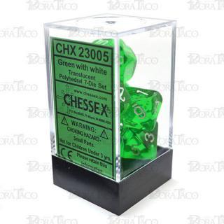 チェセックス(CHESSEX) クリアグリーン&ホワイト 7個セット