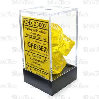 チェセックス(CHESSEX) クリアイエロー&ホワイト 7個セット