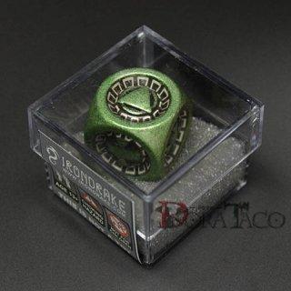 アイアンダイ レーザー装飾 レア6面サイコロ グリーン Assault