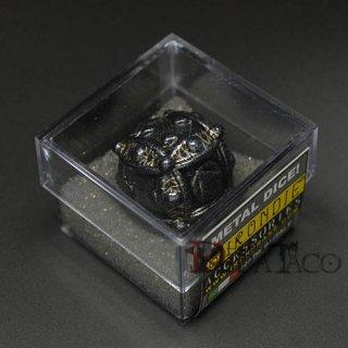 アイアンダイ レーザー装飾 レア6面サイコロ ブラック Ballistic