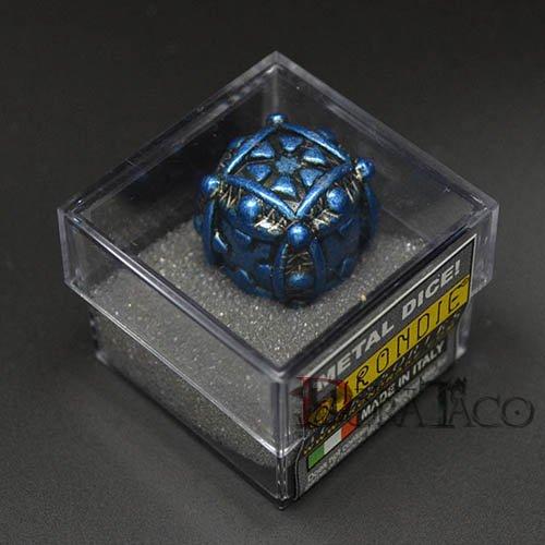 アイアンダイ レーザー装飾 レア6面サイコロ ブルー Ballistic