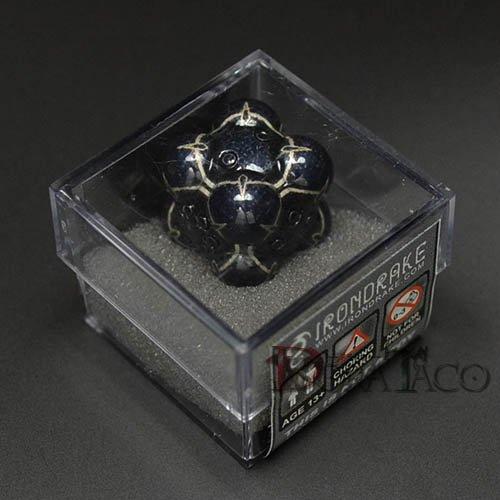 アイアンダイ レーザー装飾 レア6面サイコロ ブラック Nullifier