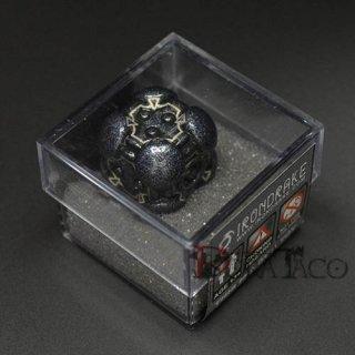 アイアンダイ レーザー装飾 レア6面サイコロ ブラック Powerup