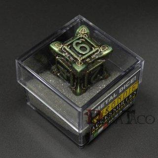 アイアンダイ レーザー装飾 レア6面サイコロ グリーン Swarm