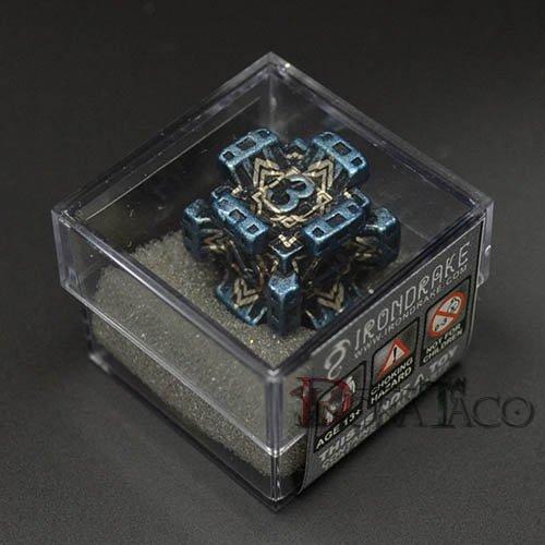 アイアンダイ レーザー装飾 レア6面サイコロ ブルー Fortress