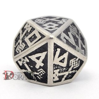 D10単品・ドワーフ(Dwarven)【メタル&ブラックダイス】 10面×1個