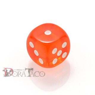 D6・単品 チェセックス 12mm 6面サイコロ オレンジ