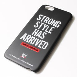 <日本限定>中邑真輔【Strong Style Has Arrived】 iPhone6 ケース 2  ブラック