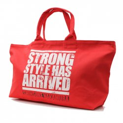 <日本限定>中邑真輔【Strong Style Has Arrived】トートバッグ(L)レッド