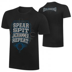 ゴールドバーグ【Spear, Spit, Jackhammer, Repeat】Tシャツ