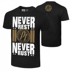 AJ・スタイルズ【Never Rest, Never Rust】Tシャツ