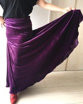 hpf054 練習用ファルダ ベロア 紫