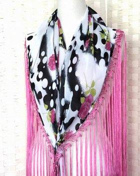 hpc157シージョ 白×黒、ピンク花柄 フレコピンク