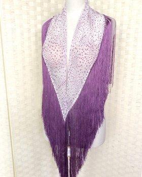 hpc179シージョ 白×うす紫水玉 透け感