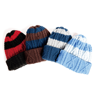 Antoni border knit cap