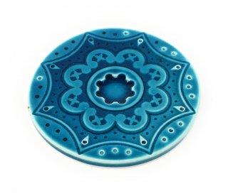 陶器製コースター<br>グリーン<br>ポルトガル製ハンドメイド