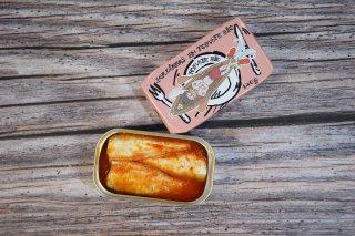 オイルサーディン  オーガニックトマト<br>&オーガニックエクストラ<br>バージンオリーブオイル<br>チーズを乗せて温めて召し上がれ